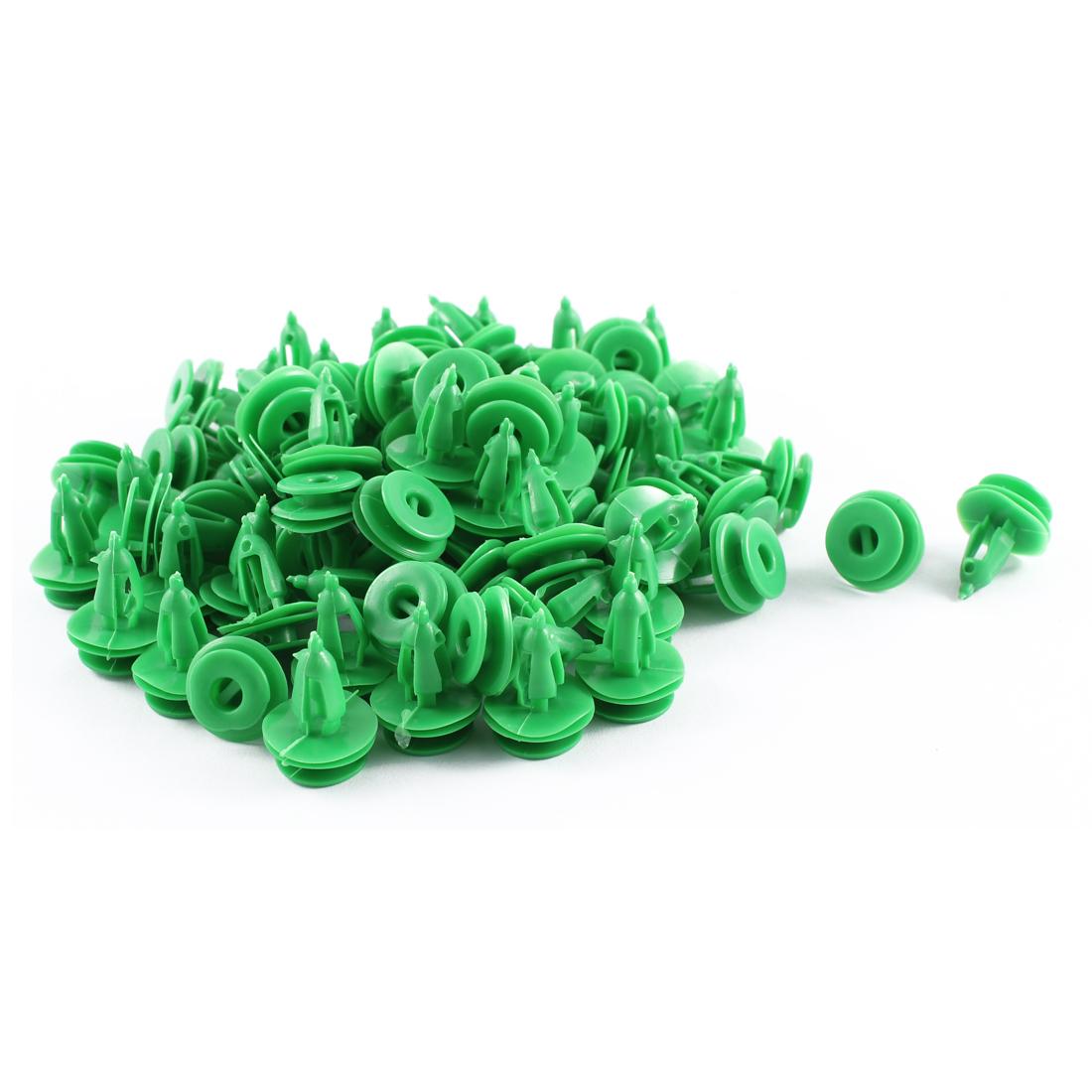 Unique Bargains 80 Pcs Green Plastic Splash Defender Moulding Trim Mat Clips