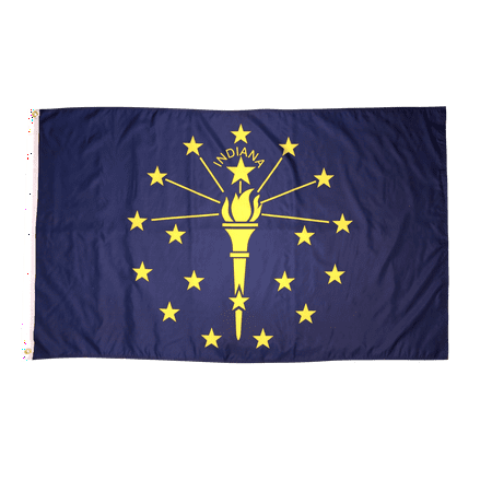 Indiana Flag Pictures (3x5 Foot Indiana Flag Double Stitched Indiana State Flag with Brass Grommets | 3 by 5 Foot Premium Indoor Outdoor Polyester Banner Flag )