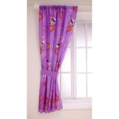 Disney Minnie Girls Bedroom Curtain Panel - Walmart.com