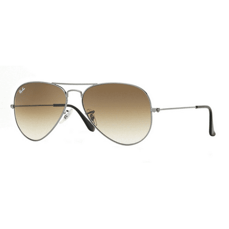 Ray-Ban RB3025 Classic Aviator Sunglasses, 58MM, Gradient Lens (Pink Ray Ban Aviators)