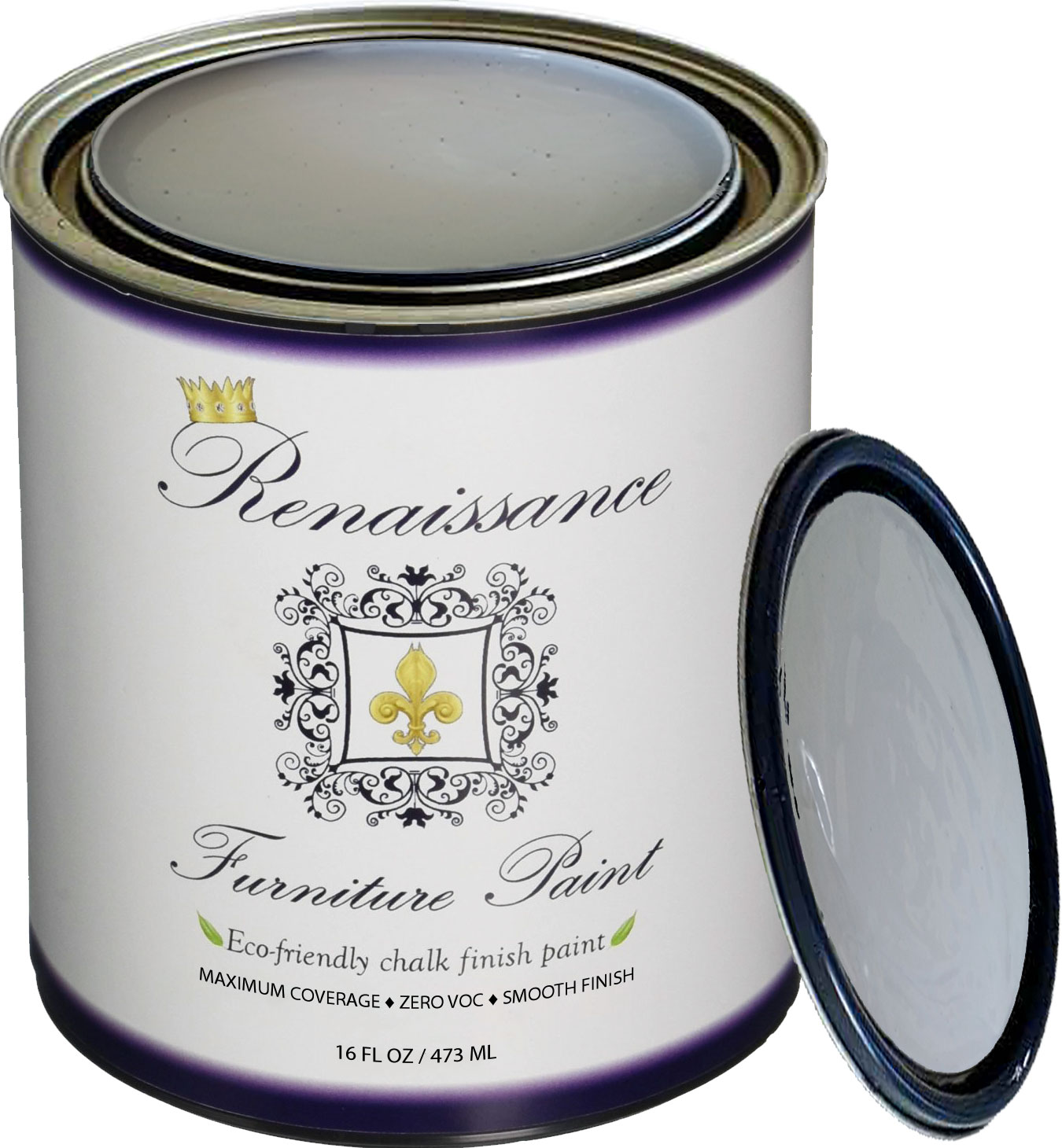Renaissance Chalk Finish Paint - Stone Castle Pint (16oz) - Chalk Furniture & Cabinet Paint - Non Toxic, Eco-Friendly, Superior Coverage