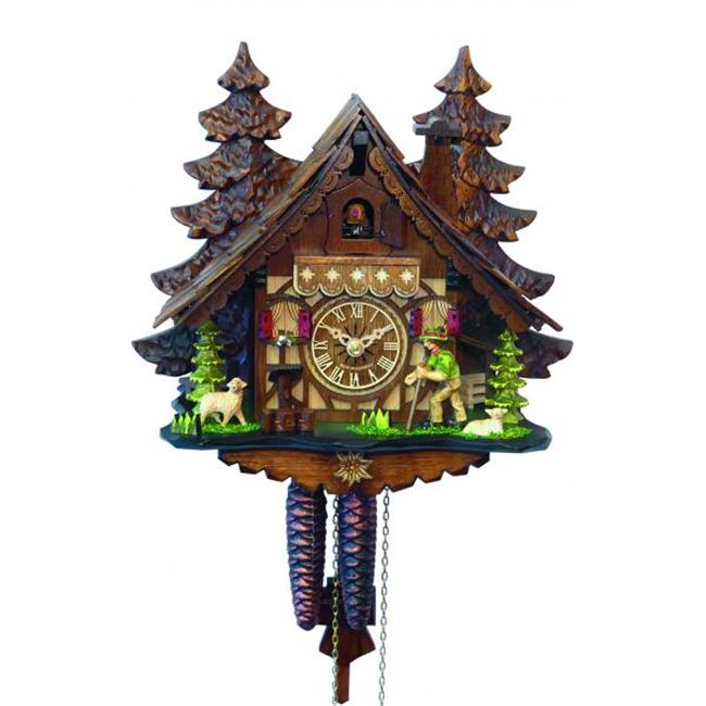 Alexander Taron 40912 11 x 12 x 6.75 in. Engstler Weight-Driven Cuckoo Clock by Alexander Taron