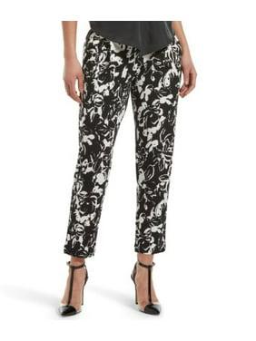 HUE Womens Floral Print Loafer Skimmer Pants Style-U20767