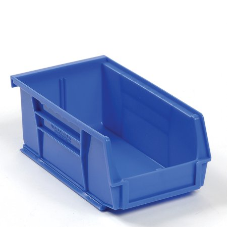 Hanging & Stacking Storage Bin 4-1/8 x 7-3/8 x 3, Blue, Lot of 24 (Hanging Storage Bins)