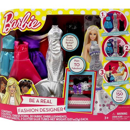 Tara Toys Barbie Be a Fashion Designer Doll Dress Up Kit - Diy Halloween Doll Dress