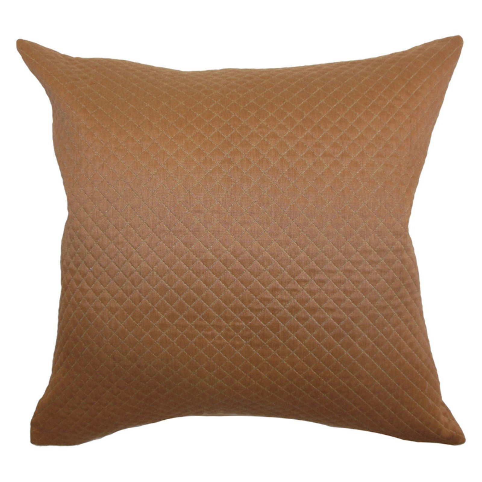 The Pillow Collection Ochs Quilted Pillow - Brown