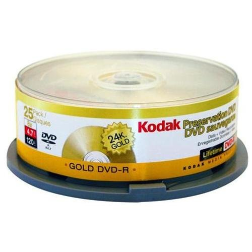 Kodak 51125 8x Gold Preservation Write-once Dvd-r