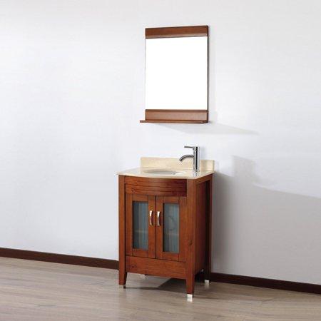 Bauhaus Bath Alfa 24 in. Single Bathroom Vanity Set with Mirror