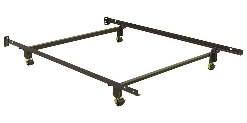 Metal Bed Frame w 4 Rug Rollers & No-Tools Assembly (Full) - Walmart.com
