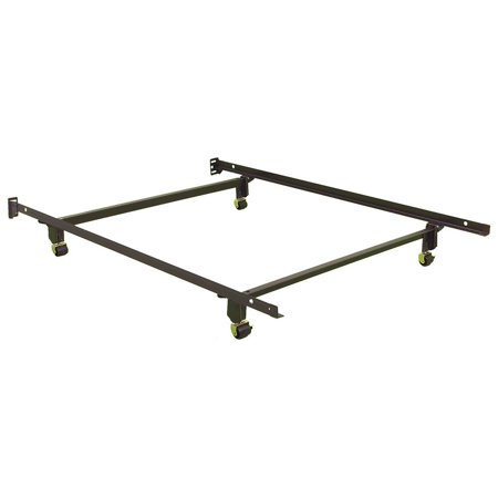 metal bed frame w 4 rug rollers no tools assembly full walmartcom - Metal Bed Frames Full