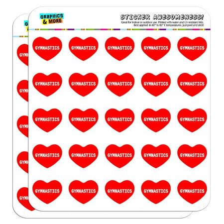 Gymnastics Scrapbook Stickers - I Love Heart - Sports Hobbies - Gymnastics - 1