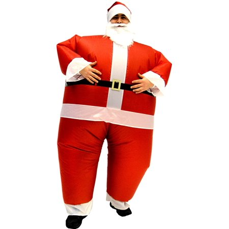 Santa Claus Teen Inflatable Chub Suit® Costume With Beard and Hat](Inflatable Suit)
