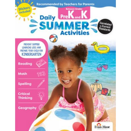 Daily Summer Activities : Moving from Prek to Kindergarten, Grades Prek-K