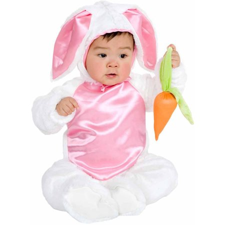Plush Bunny Infant Halloween Costume](Infant White Rabbit Costume)