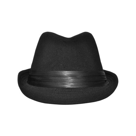 ebd6bc775661 Simplicity - Fashion Adult Feather Trilby Fedora Hats with Black Band One  Size - Walmart.com