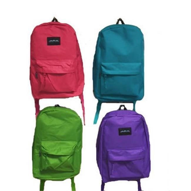 YDB 17 in. Bright Colors Backpack, Case of 24