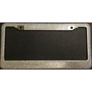Silver Diamond Bling License Plate Frame - 2 pack