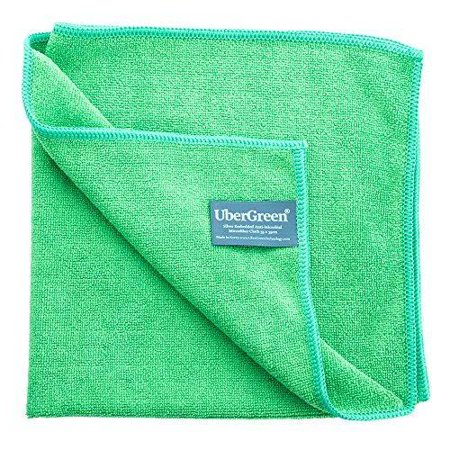 UberGreen Microfiber Cleaning Cloth - Silver Threads Embedded - Reusable Enviro Microfiber