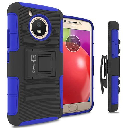 CoverON Motorola Moto E4 / Moto E 4th Generation (2017 US Version) Case, Explorer Series Protective Holster Belt Clip Phone Cover