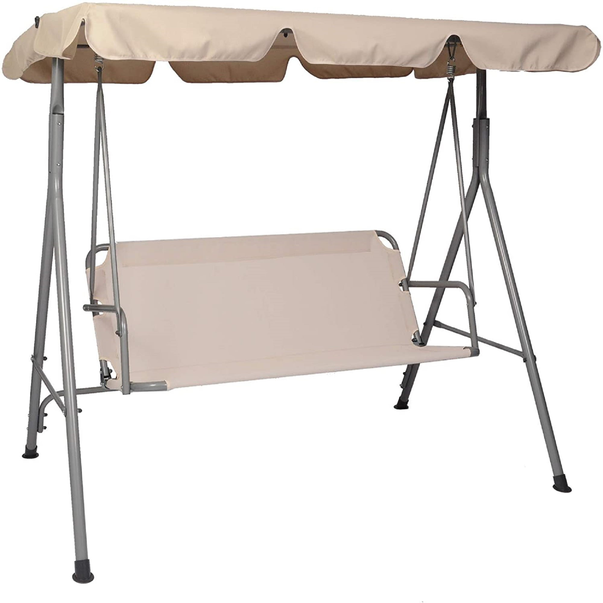 Karmas Patio Swing 3 Person, Outdoor Swing Bench With Stand