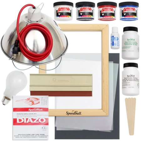 Custom Screen Printing (Speedball Emulsion Screen Printing Bundle )