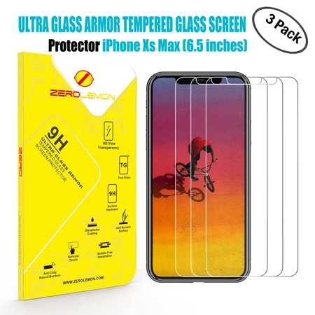 - iPhone Xs Max Screen Protector, ZeroLemon 6.5inch Tempered Glass Film for OLED Display, 3 Pack