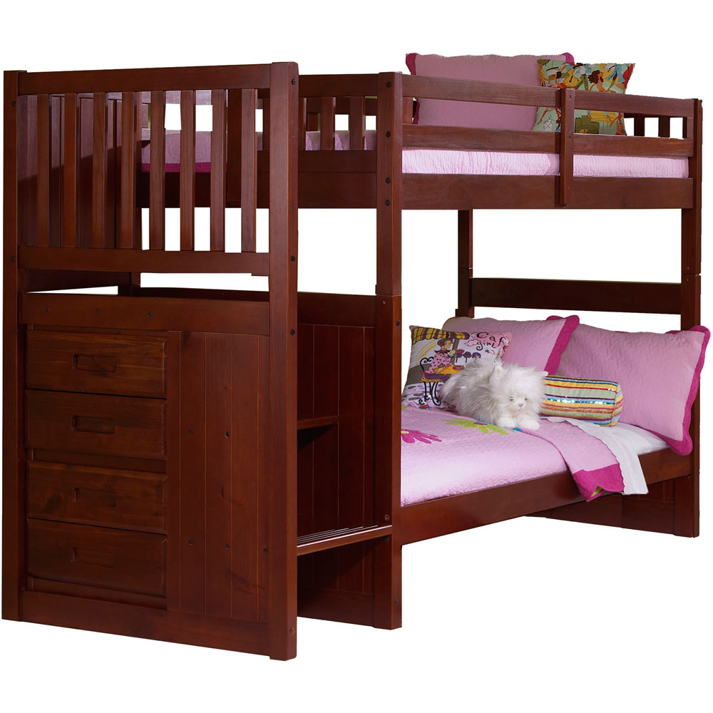 Cambridge Springside Twin Over Twin Staircase Bunk Bed