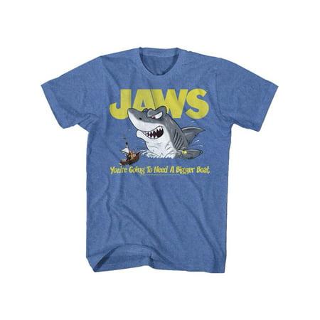 Jaws Movies Cartoon Jaws Adult Short Sleeve T Shirt