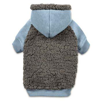 Casual Canine Cozy Fleece Dog Hoodie - Blue (Cozy Casual Canine Snowsuit)