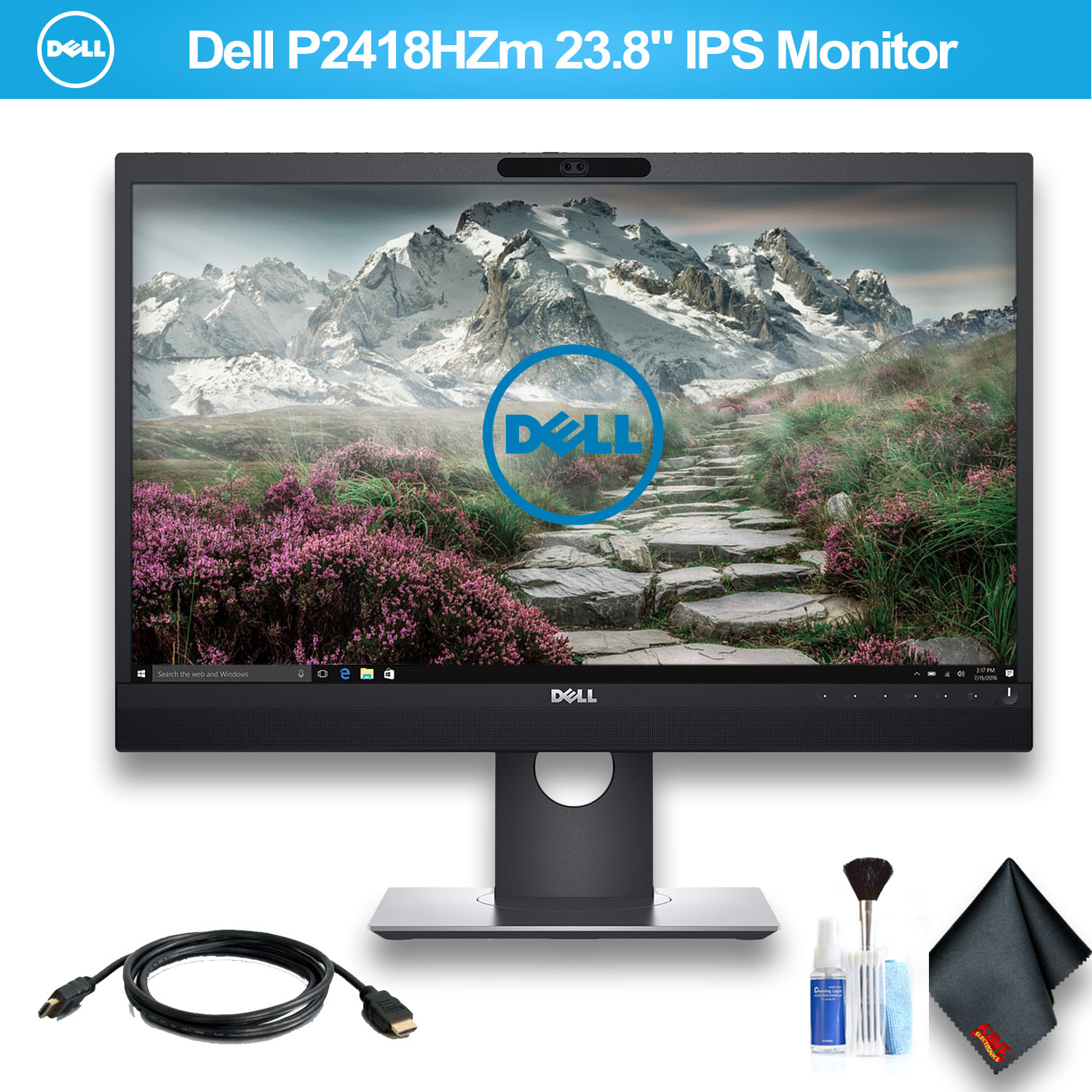 "Dell P2418HZm 23.8"" IPS Monitor With HDMI Cable"
