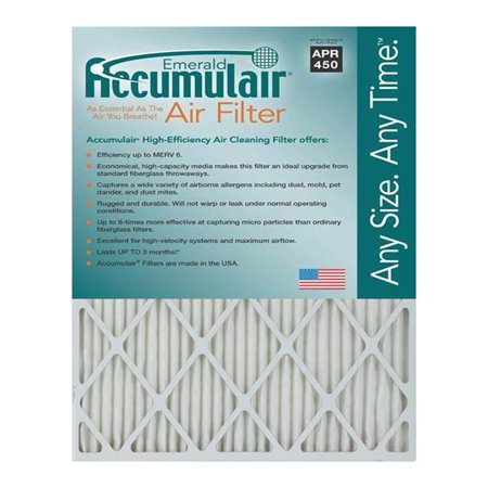 Accumulair Emerald 21 5x23 25x4 MERV 6 Air Filter 4 pack