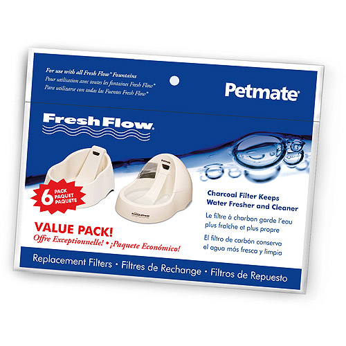 Fresh Flow Replacement Charcoal Filter, 6-Filter Value Tray, 6 Pack