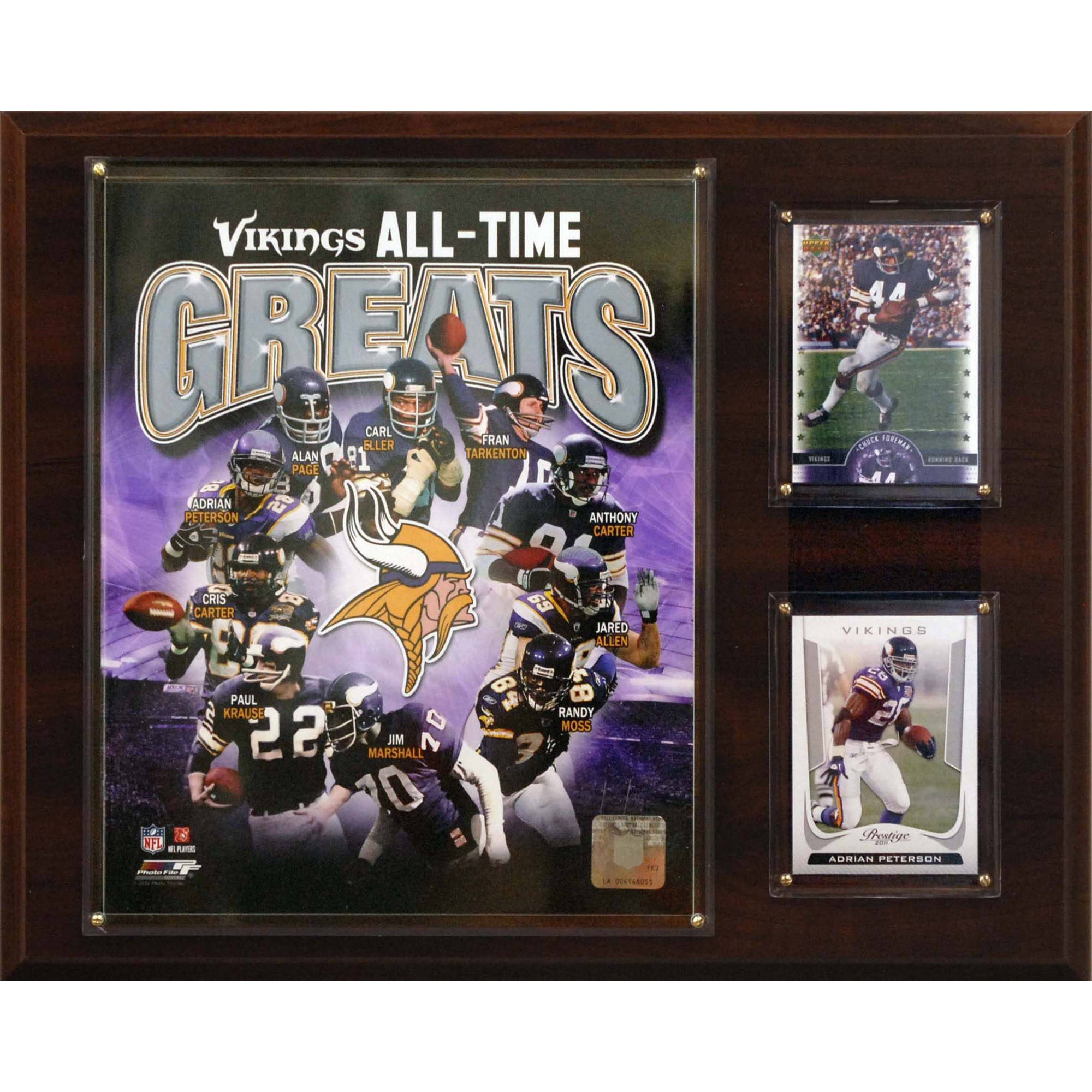 C&I Collectables NFL 12x15 Minnesota Vikings All-Time Great Photo Plaque