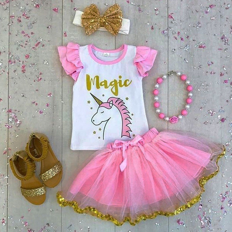 NEW CARTERS Infant Baby GIRL Size NB NEWBORN Outfit Tutu UNICORN Pink Stars
