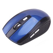 HDE Wireless Optical Computer Mouse 2.4 GHz Cordless USB Receiver Adjustable DPI (Blue)