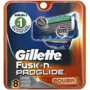 Gillette Fusion ProGlide Power Cartridges 8 Each (Pack of 6)