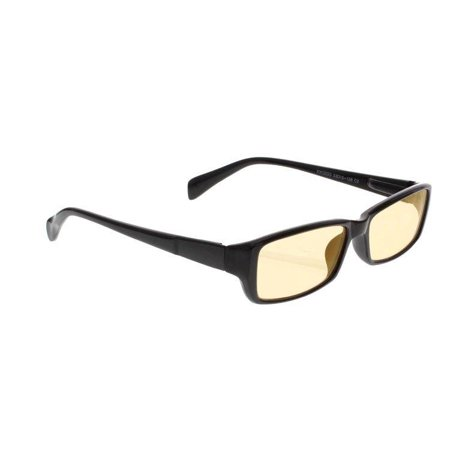 Computer Glasses with Peach Poly Double Sided AR Coating - Black Plastic Frame with Spring Hinges - 53-16-140 Eye Size
