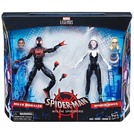 Marvel Spider-Man Into the Spider-Verse Miles Morales & Spider-Gwen Action - Spider Man Gwen