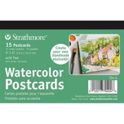 Strathmore Watercolor Postcards, 15 Sheets, Blank