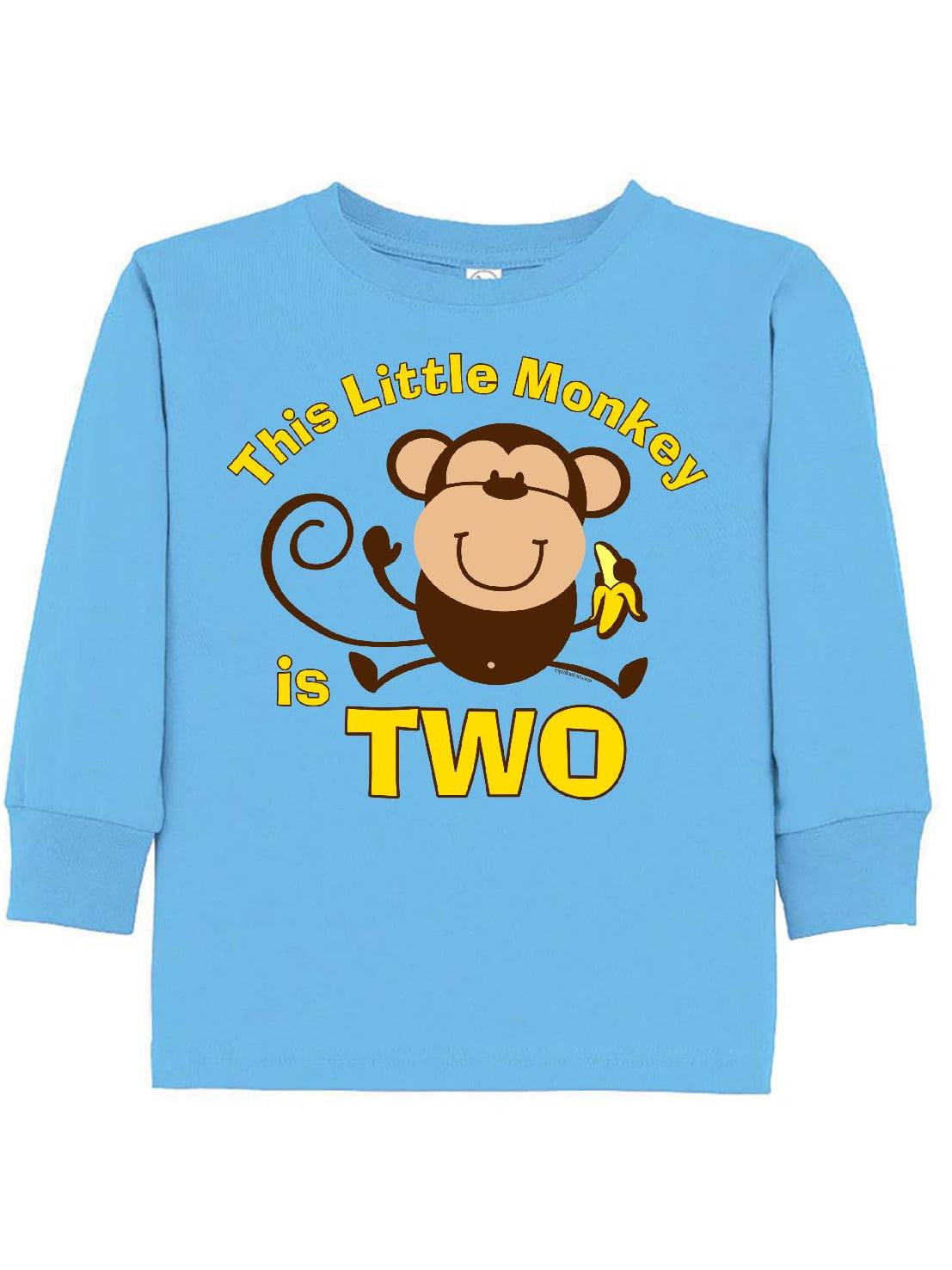 Little Monkey 2nd Birthday Boy Toddler Long Sleeve T-Shirt