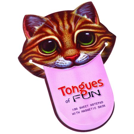 Fun Center Cat - Tongues Of Fun Cat Face Notepad - 100 Sheets, Magnetic Back, 3