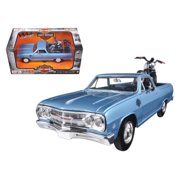 1965 Chevrolet El Camino 1/25 With 2007 Harley Davidson XL 1200N Nightster Motorcycle 1/24 by Maisto