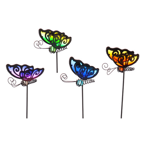 Evergreen Enterprises, Inc 24 Piece Cheerful Summer Days Butterfly Plant Pick Gargen Stake Set