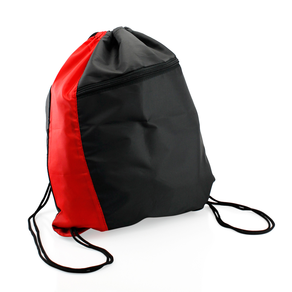 Colorblock Drawstring Backpack Cinch Sack School Tote Gym Bag ...