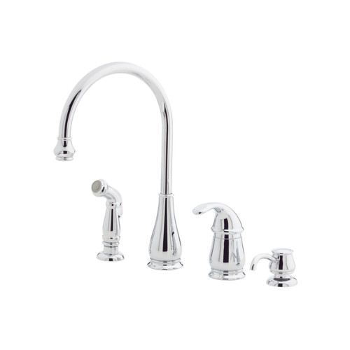 Pfister Treviso High Arc Kitchen Faucet with Sidespray, Available in Various Colors