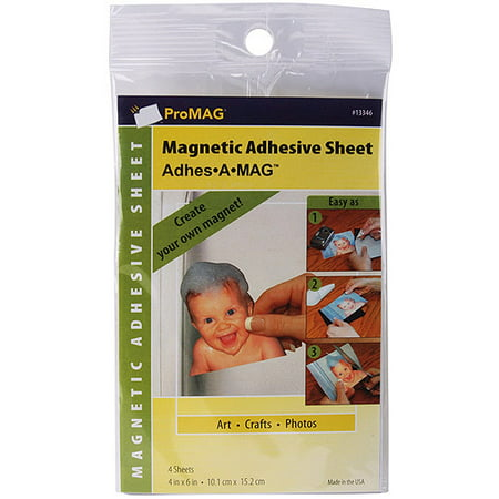 ProMag Adhesive Magnetic Sheet, 4