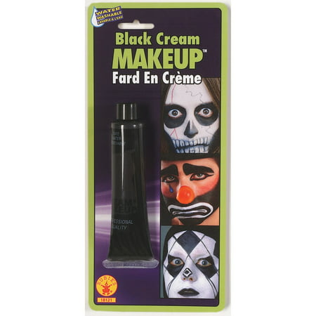 Wolf Face Paint For Halloween (Black Cream Face Paint)