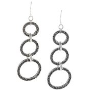 Lolas Jewelry Lola's Jewelry Pewter Spiral Design Graduated Circle Earrings