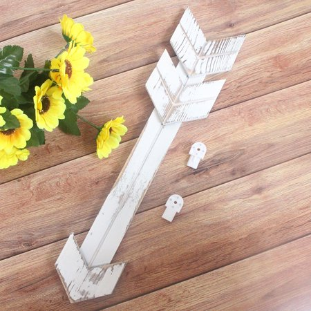 Siaonvr Rustic Wood Arrow Sign Decor Wall Mount Decoration For Home Or Wedding ()
