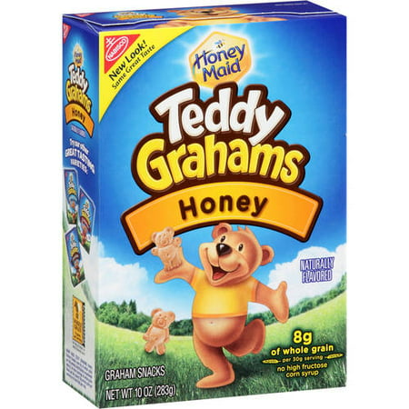 (3 Pack) Nabisco Teddy Graham Honey, 10 Oz